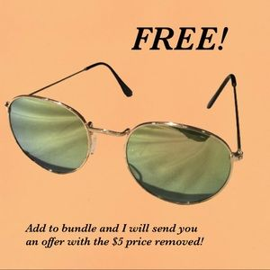 💸 FREE add-on! Gold Rimmed Sunglasses